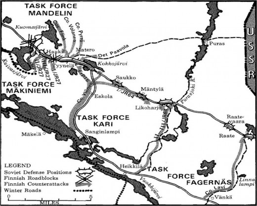 Disposition of forces and the final Finnish attack.