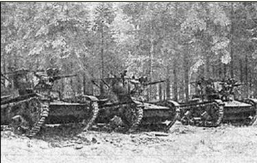 Tanks of the 44th Rifle Division in Finland.