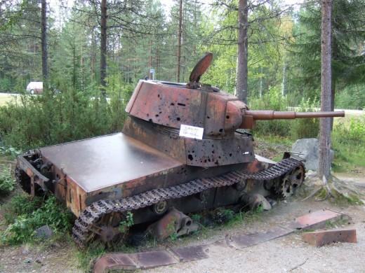 T-26 tank in Suomussalmi.