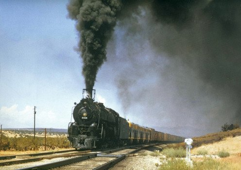 Santa Fe steam train