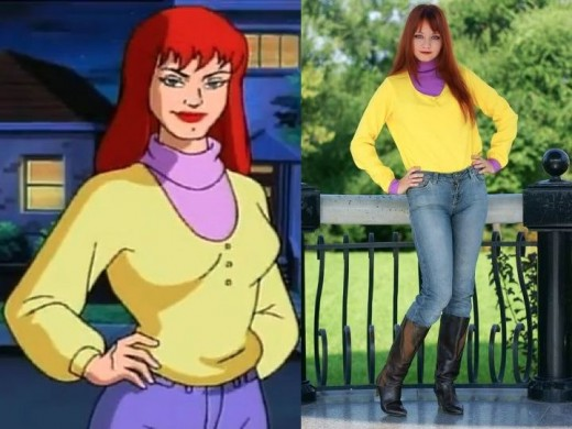 Spider-Man Animated Series Mary Jane Yellow Shirt Cosplay Costume