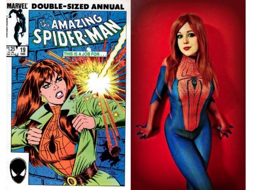 6eee126d Mary Jane Watson in Spider-Man Costume Cosplay