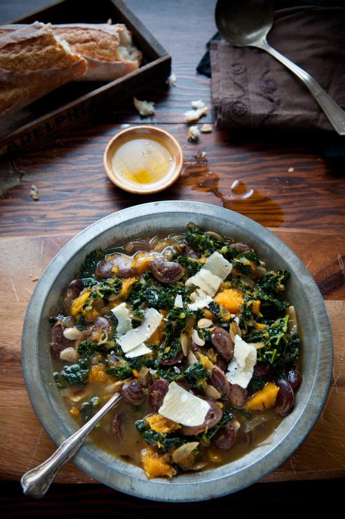 Simple Lentil, Pumpkin and Kale Soup
