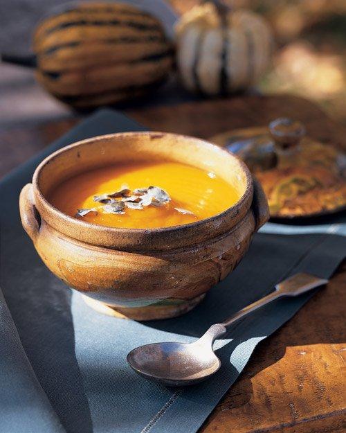 Martha Stewarts Chestnut and Pumpkin Soup Recipe