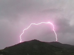 This rare and hard to find photo demonstrates that there is such a thing as ground-to-ground lightning.