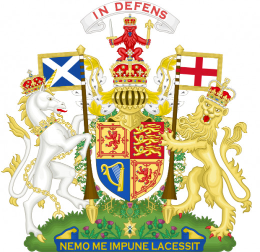 Queen Elizabeth II's Royal Coat of Arms for Scotland from 1952 to the present day.