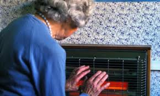 Elderly pensioner with inadequate and unaffordable heating