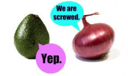 Even the veggies and fruit know when they have reached the end!