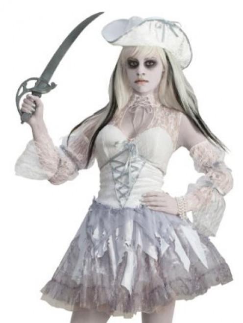 Women's Ghost Pirate Halloween Costume