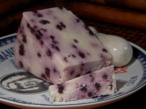 A blueberry Stilton cheese. Try this sliced with the dumplings, or for dessert.