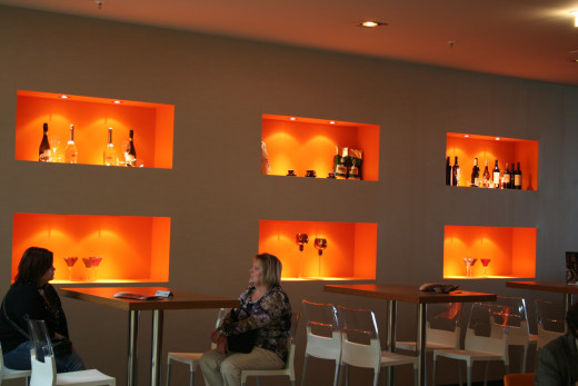Display area inside tasting bar - Mall in Ludwigshafen, Germany