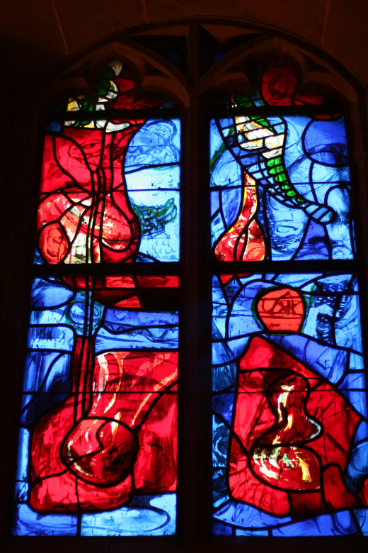 Church window in Pforzheim, Germany