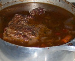 As it cooked it got completely submerged.  Obviously there was a lot of fat there.
