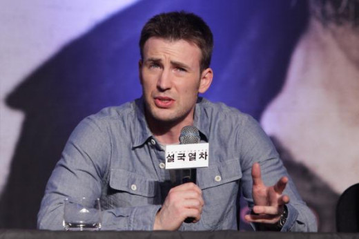 "Chris Evans. 32, 6'. Known for ""Fantastic Four"" and ""Avengers."""