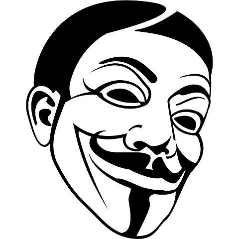Image Credit- Guy Fawkes Mask Image.jpg, by Vectorportal (CC BY SA)