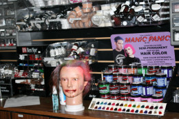 Get all kinds of Halloween or professional cosmetic advice at the Costume Castle Make Up Shoppe!