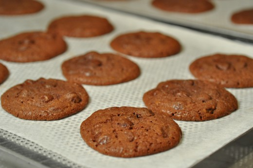 Baked chocolate chip cookies. Each cookie is about 11g and there's about 8g of chocolate in each. Image: © Siu Ling Hui