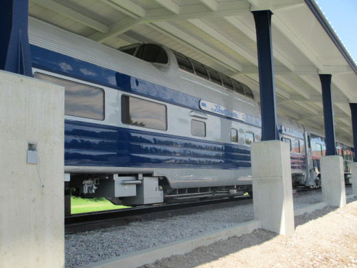 The business train in its new home in Missoula MT at MRL Headquarters