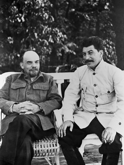 Vladimir Lenin and Josef Stalin