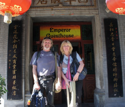 Mick & Sheila about to leave Beijing, bound for the heart of China.