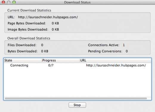 Figure 5: Download Status window
