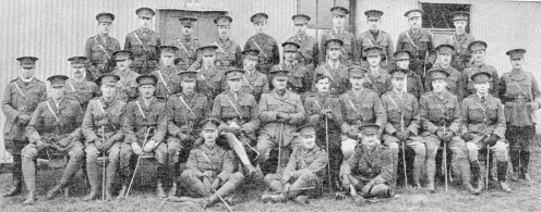 Officers of the 24th (Service) Battalion Northumberland Fusiliers (1st Tyneside Irish)