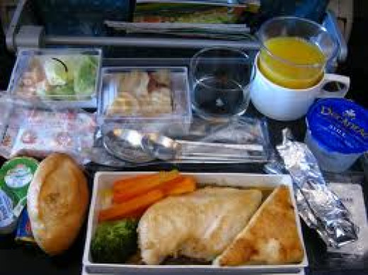 Food is served on all the airlines flying internationally.