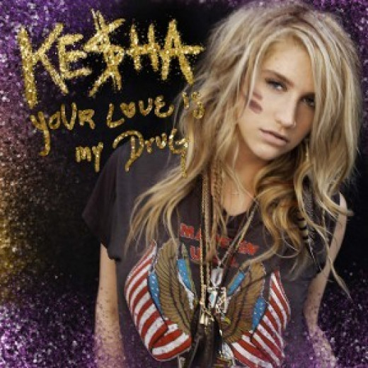 Your Love Is My Drug is the only love song by Ke$ha that became a single