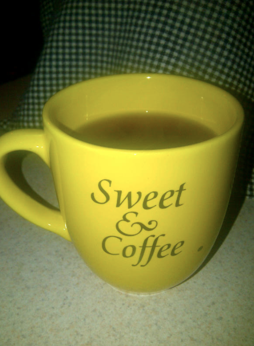 Freshly brewed but not sweet! I like it black!