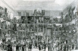 Engravng of the Louvre Salon of 1787.