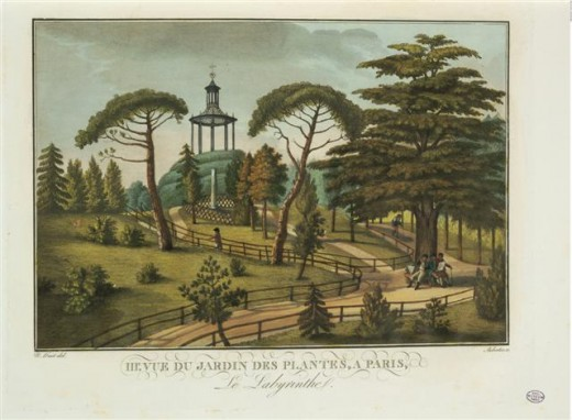 An Artist's View of the Jardin des Plantes in 1830