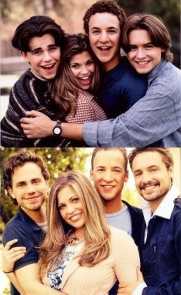 The cast of BMW, then and now.
