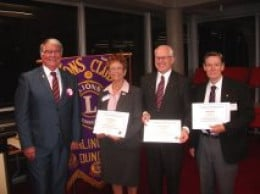 Here, I and two others, two from the local Lions Club and the lady and I from Toastmasters are thanked for judging a school childrens public speaking competition.
