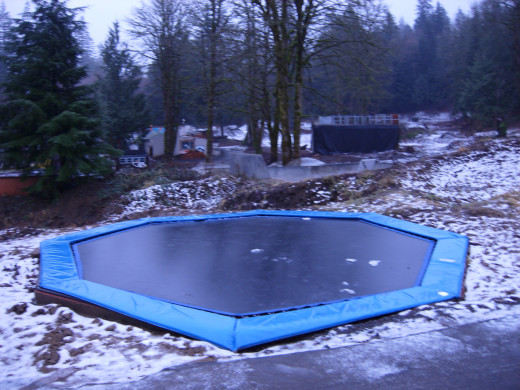 The outdoor trampoline (we didn't use it).