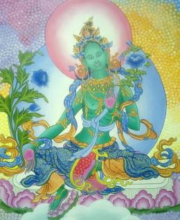 Nepali Princess Bhrikuti is worshiped as Green Tara in Vajrayana Buddhism.