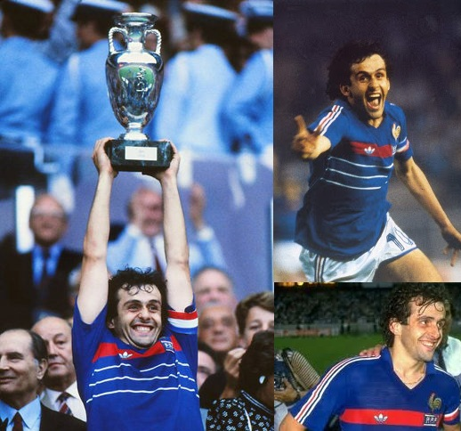 Michael Platini won the European Championship and scored two hat-tricks
