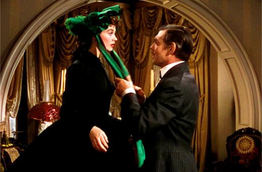 Scarlett O'Hara (Vivian Leigh) and Rhett Butler (Clark Gable)