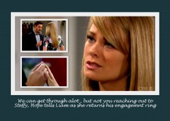 The Bold and the Beautiful:  Hope Breaks Her Engagement to Liam