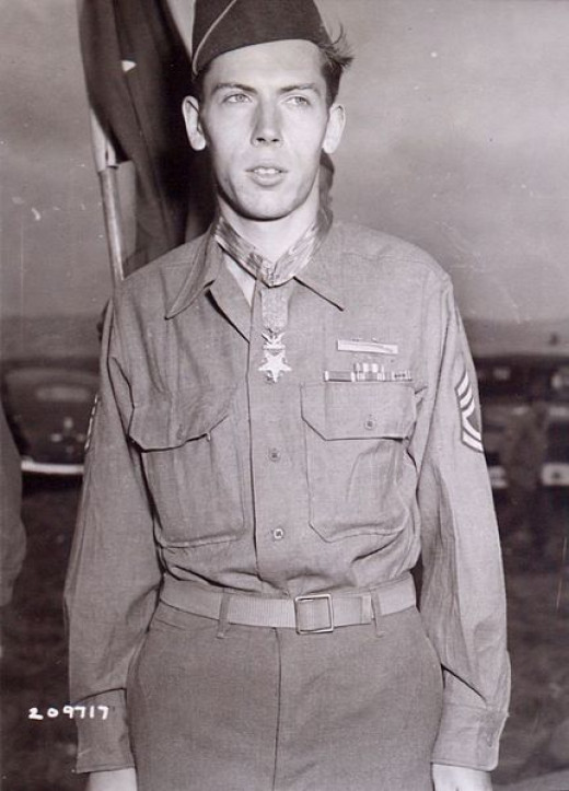 Sgt Currey moments after receiving the Medal of Honor
