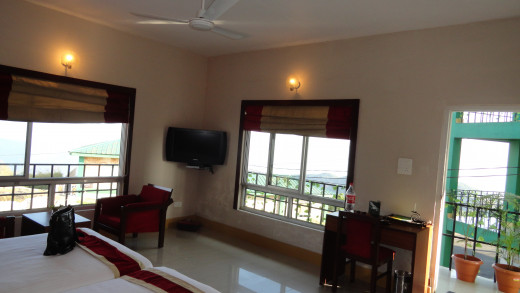 The view of the rooms