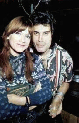A young Freddie Mercury with Mary Austin