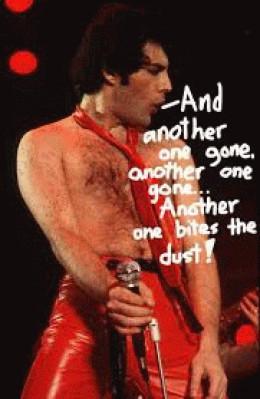 Freddie Mercury being well...Freddie Mercury