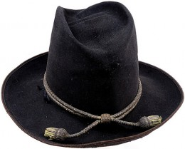 This (slightly modified) hat of the 1850s was authorized for all units, but saw little distribution outside of the dragoon regiments