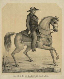 In 1847, the US Government conquered a desert. Pictured is the scruffy Gen. Zach Taylor wearing a civilian hat on campaign in the sun. The need for these hats was so common that even sticklers like Winfield Scott often wore a planter's hat in the war