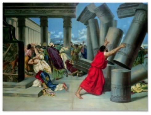 Death of Samson and Many Many Philistines