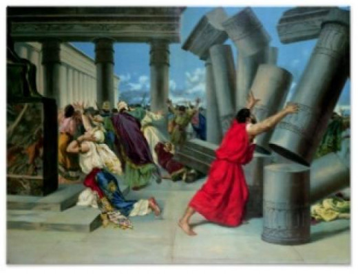 Death of Samson and Many Many Philistines