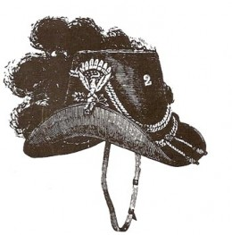 This is the only hat ever worn exclusively by US Cavalrymen. It lasted for three years.