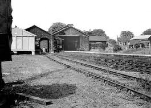 Guisborough Station after closure in 1965 - by then even with dmu service expenditure on the line's infrastructure had been about £60,000, income about £6,000. Why? Buses ran into the centre of town and the journey to Middlesbrough took longer