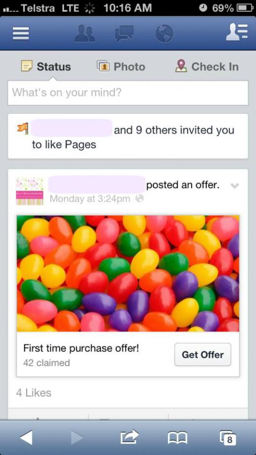 First, go into Facebook using Safari.