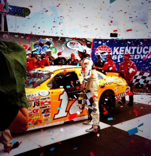 The 22 year old has won multiple races in both the ARCA and K&N East series so far